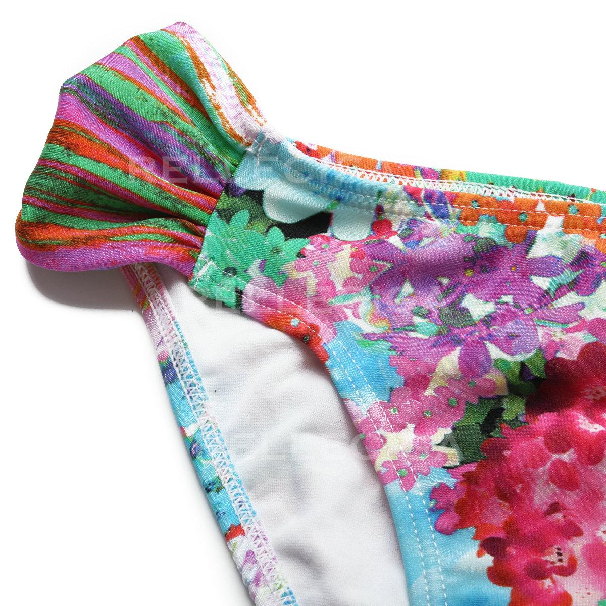 Kvetované dvojdielne zapínacie plavky s digitálnou potlačou RELLECIGA  Digital d1df8fa364