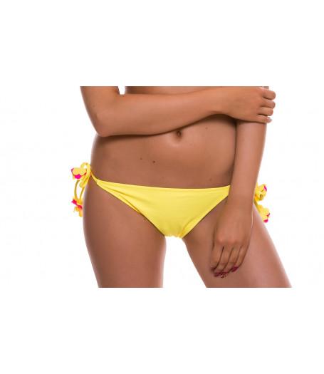 Žlté plavkové nohavičky so žlto-ružovými kvetmi RELLECIGA Marianne | OUTLET