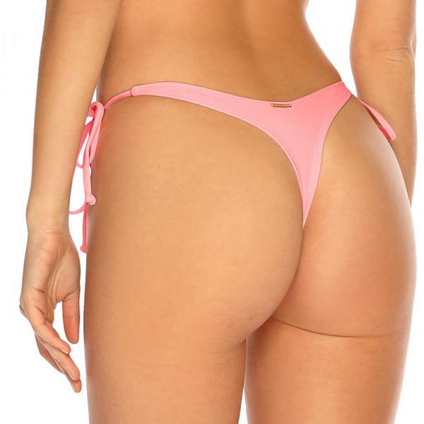 Pastelovo ružové šnurovacie tanga plavky RELLECIGA Pastels