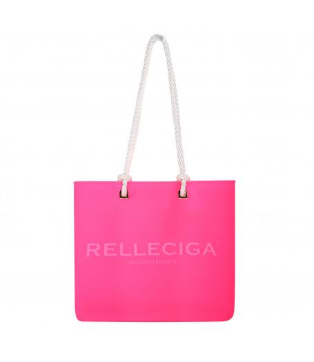 Ružová plážová silikónová taška RELLECIGA