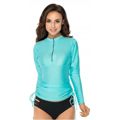 Tyrkysové tričko do vody s UV ochranou RELLECIGA | Vrchný diel