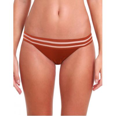 Tehlové plavky s priesvitnými prúžkami RELLECIGA Sheer Striped | Spodný diel | OUTLET