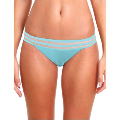 Tyrkysové plavky s priesvitnými prúžkami RELLECIGA Sheer Striped | Spodný diel | OUTLET