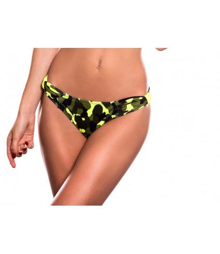 Neónovo-maskáčové plavky bez šnurovania RELLECIGA Camouflage | Spodný diel | OUTLET