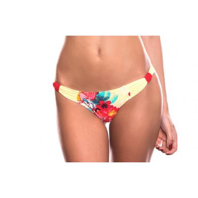 Žlté kvetinové plavky RELLECIGA Floral Criss-Cross Bow Bottom | OUTLET