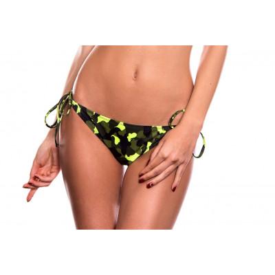 Neónovo-maskáčové plavky so šnurovním RELLECIGA Camouflage | Spodný diel | OUTLET