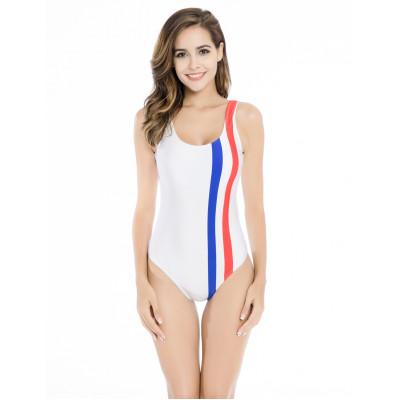 Biele športové jednodielne plavky RELLECIGA Paris Morning | OUTLET