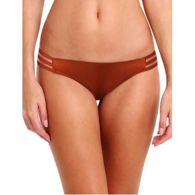 Tehlovočervené plavky s priesvitnými prúžkami RELLECIGA Sheer Striped | Spodný diel | OUTLET