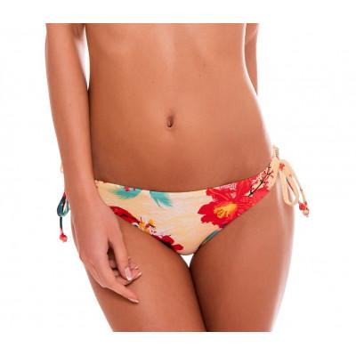 Žlté kvetované plavky so šnurovním RELLECIGA Floral | Spodný diel | OUTLET