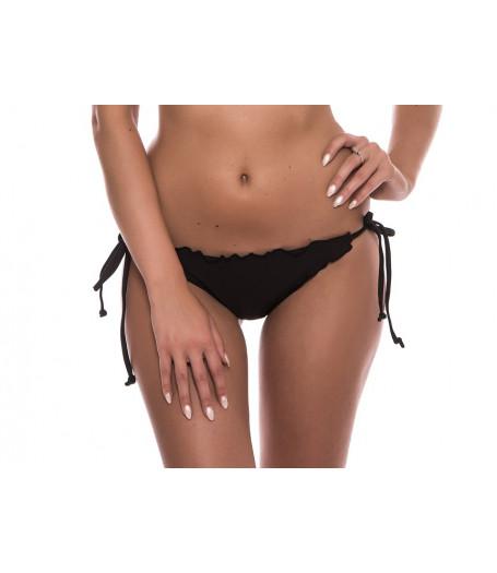 Čierne volánikové plavkové nohavičky RELLECIGA Ruffle-Trim | OUTLET