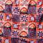 Fialové jednodielne šnurovacie plavky s exotickým vzorom RELLECIGA Digital