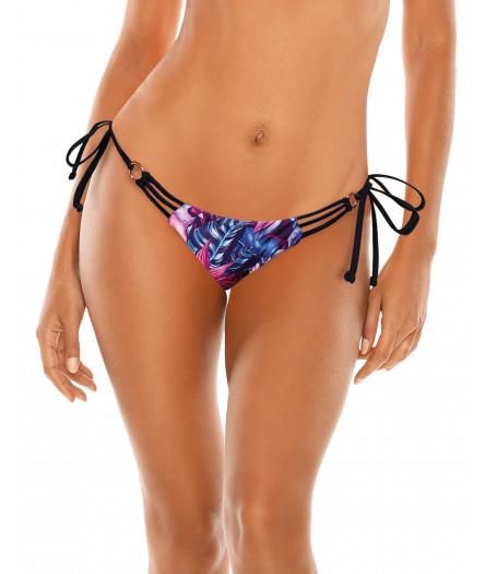 Fialovo-modré kvetované plavky so zlatým krúžkom RELLECIGA Rio | Spodný diel