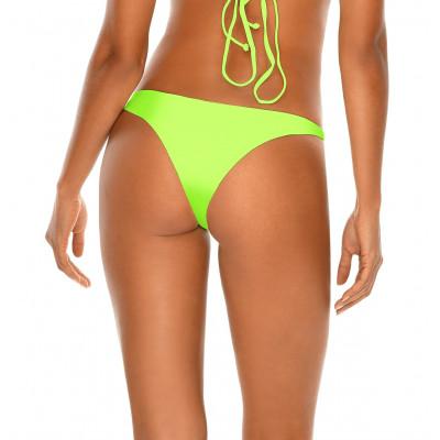Neónovozelené brazilkové plavky bez šnurovania RELLECIGA Neon | Spodný diel