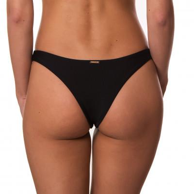 Čierne brazilkové plavkové nohavičky bez riasenia RELLECIGA
