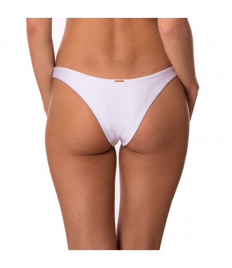 Biele brazilkové plavkové nohavičky bez riasenia RELLECIGA