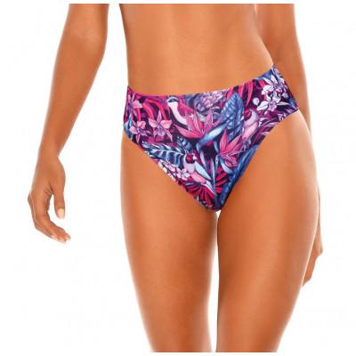 Fialovo-modré kvetované high-waist plavky RELLECIGA Rio | Spodný diel