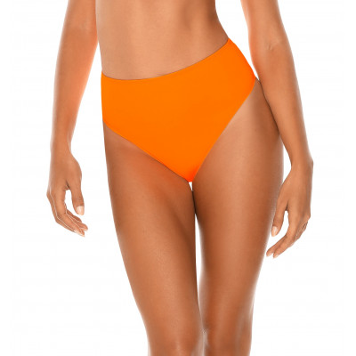 Neónovooranžové high-waist plavky RELLECIGA Neon | Spodný diel