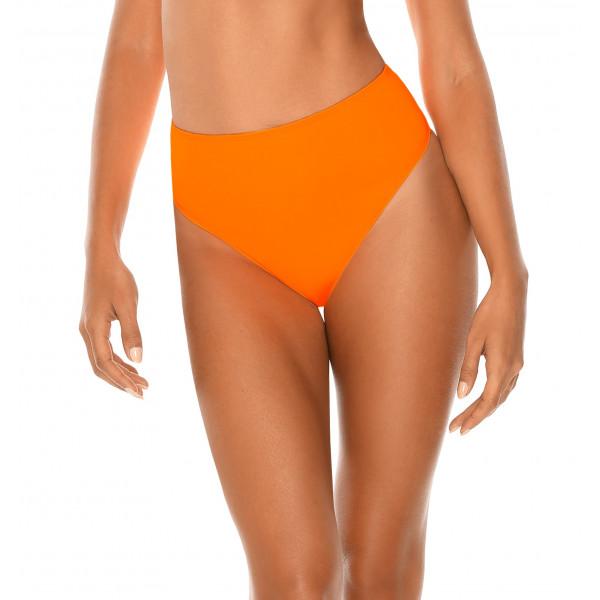 Neónovo oranžové plavky s vysokým pásom RELLECIGA Neon