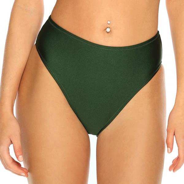 Olivovo zelené plavky s vysokým pásom RELLECIGA