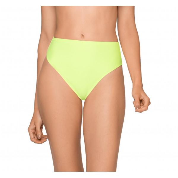 Neónovo zelené plavky s vysokým pásom RELLECIGA Neon