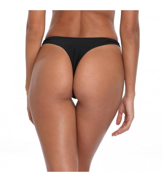 Čierne high-waist tanga plavky RELLECIGA