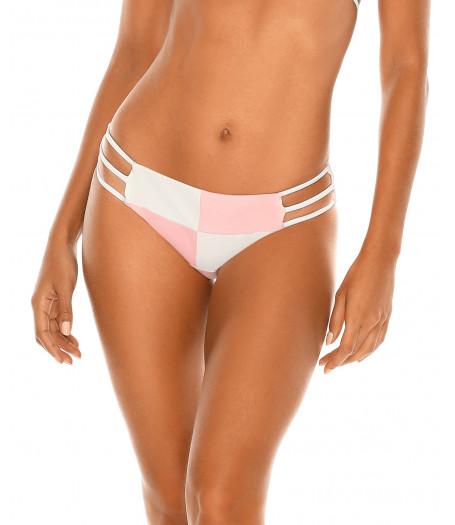Ružovo-biele semišové plavky RELLECIGA Pastels | Spodný diel