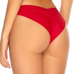 Červené brazilkové plavky s riasením RELLECIGA