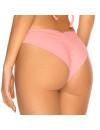 Pastelovo ružové brazilkové plavky s riasením RELLECIGA Pastels
