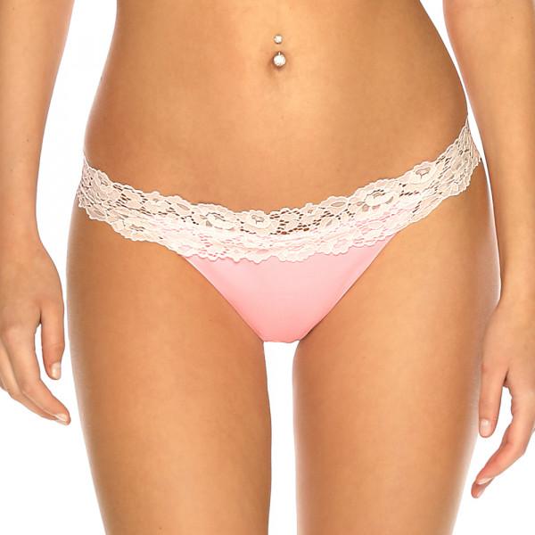 Pastelovo ružové čipkované brazil plavky s riasením RELLECIGA Pastels l Bepon