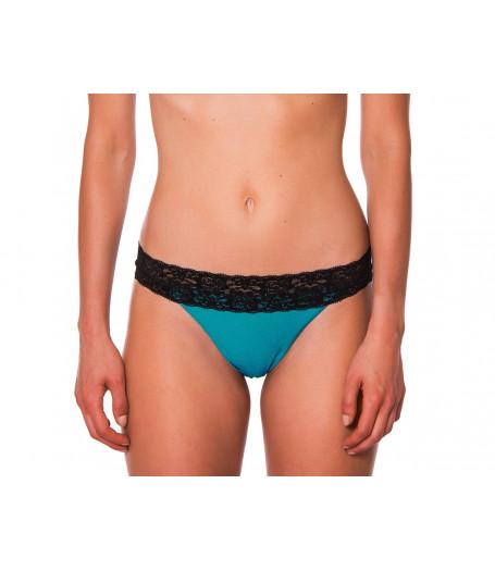Tyrkysovozelené čipkované plavky RELLECIGA Metallic | Spodný diel | OUTLET
