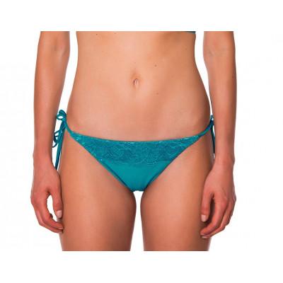 Tyrkysovo-zelené čipkované plavky s bralet vrchným dielom RELLECIGA Metallic | Spodný diel