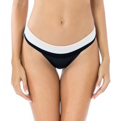 Čierne brazílkové plavky s pastelovými pásmi RELLECIGA Actvie | Spodný diel