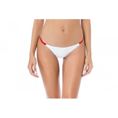 Biele športové plavky s červeným prúžkom RELLECIGA Paris Morning | Spodný diel | OUTLET