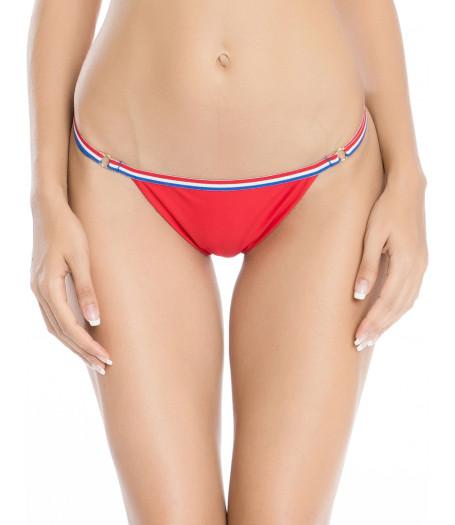 Červené športové trojuholníkové plavky RELLECIGA Paris Morning | Spodný diel | OUTLET